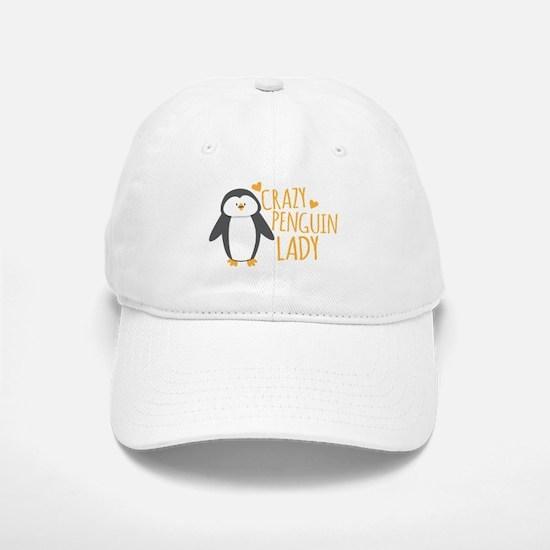 Crazy Penguin Lady Baseball Baseball Cap