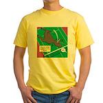 T-Rex Tennis Yellow T-Shirt