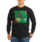 T-Rex Tennis Long Sleeve Dark T-Shirt