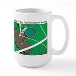 T-Rex Tennis Large Mug