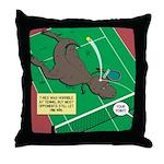 T-Rex Tennis Throw Pillow