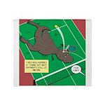 T-Rex Tennis Throw Blanket