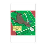 T-Rex Tennis Mini Poster Print