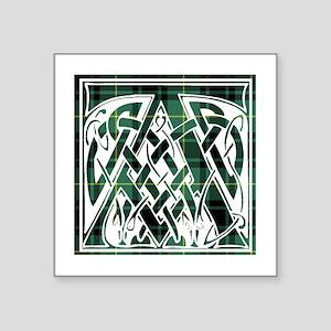 "Monogram - Arthur Square Sticker 3"" x 3"""