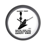 Safety First 1937 Wall Clock