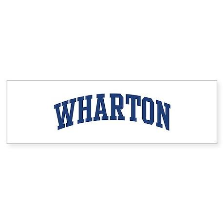 WHARTON design (blue) Bumper Sticker