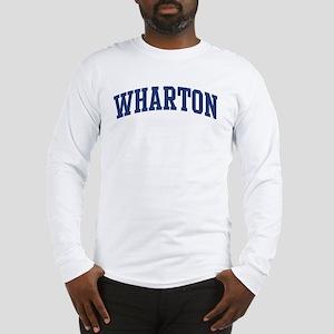 WHARTON design (blue) Long Sleeve T-Shirt