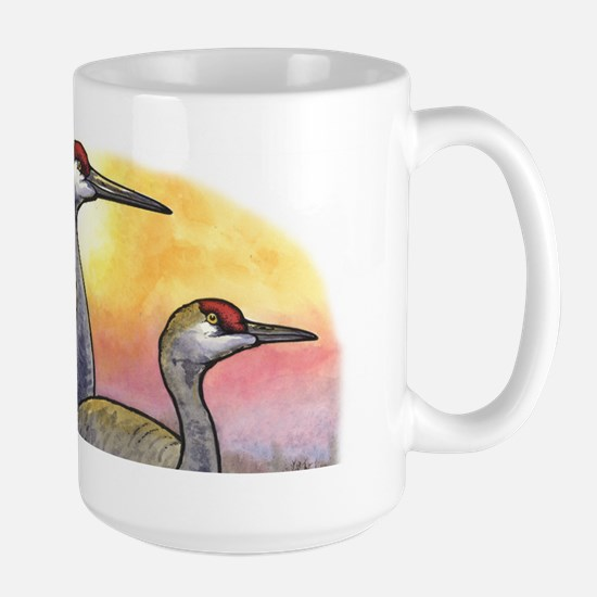 Kite and Cranes Large Mug