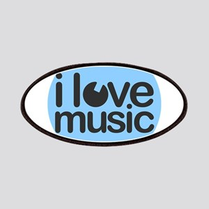 I Love Music Blue Patch
