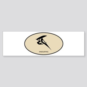 Windsurfing (euro-brown) Bumper Sticker