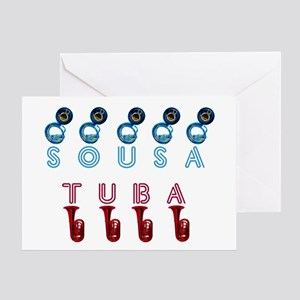 Tuba Sousa Greeting Card