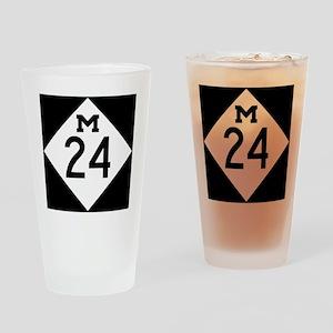 Michigan M24 Drinking Glass