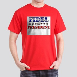 FIDEL for president Dark T-Shirt