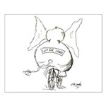 Bicycle Cartoon 1078 Small Poster