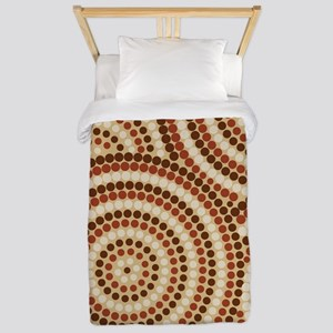 Dot Painting Earth Twin Duvet