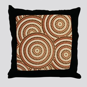 Dot Painting Earth Throw Pillow