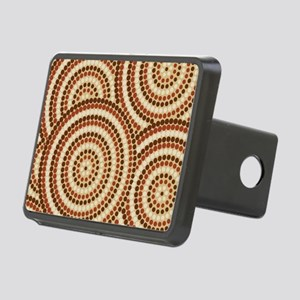 Dot Painting Earth Rectangular Hitch Cover