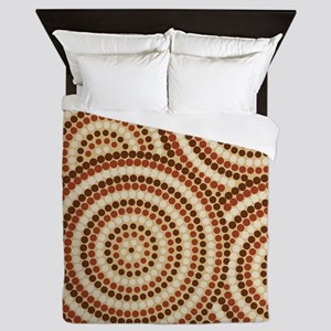 Dot Painting Earth Queen Duvet