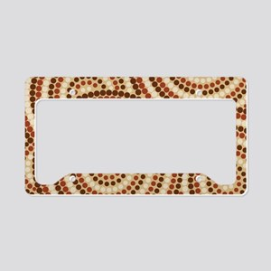 Dot Painting Earth License Plate Holder