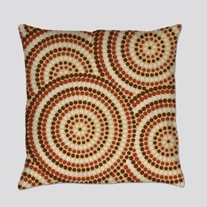 Dot Painting Earth Everyday Pillow