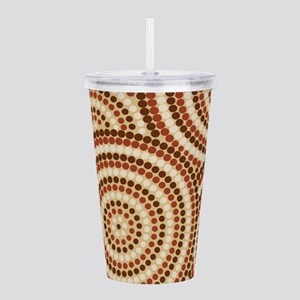 Dot Painting Earth Acrylic Double-wall Tumbler