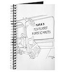 Pizza Cartoon 9338 Journal