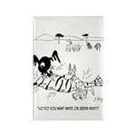 Meat Cartoon 9339 Rectangle Magnet (10 pack)