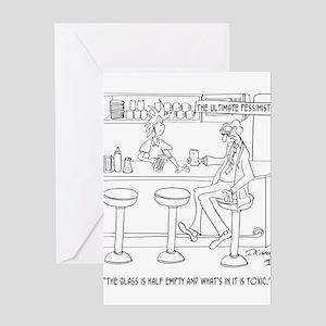 Pessimist Cartoon 9333 Greeting Card
