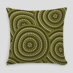 Dot Painting Bush Everyday Pillow