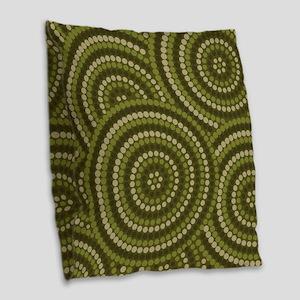 Dot Painting Bush Burlap Throw Pillow