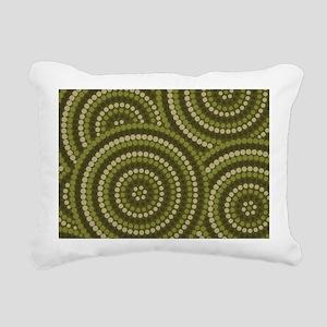 Dot Painting Bush Rectangular Canvas Pillow