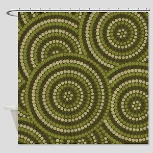 Dot Painting Bush Shower Curtain