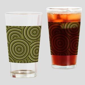 Dot Painting Bush Drinking Glass