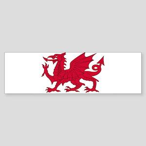 "Flag of Wales (Baner Cymru, ""The Re Bumper Sticker"