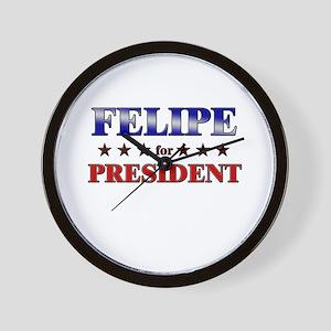 FELIPE for president Wall Clock
