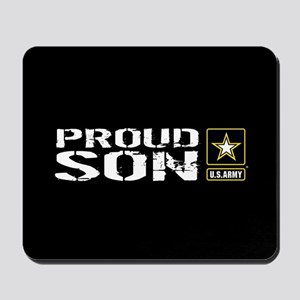 U.S. Army: Proud Son (Black) Mousepad