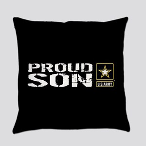U.S. Army: Proud Son (Black) Everyday Pillow
