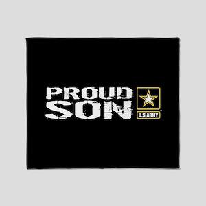 U.S. Army: Proud Son (Black) Throw Blanket