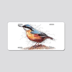 Nuthatch Aluminum License Plate