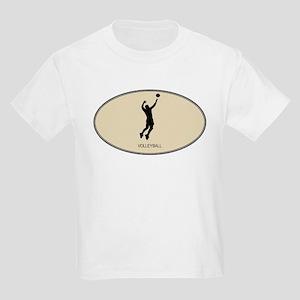 Mens Volleyball (euro-brown) Kids Light T-Shirt