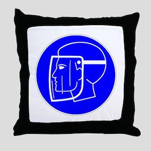 Chemist Face Mask Throw Pillow
