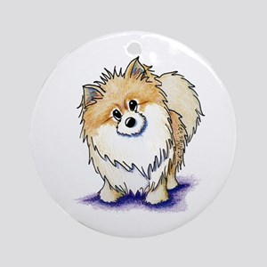 Curious Pom Ornament (Round)