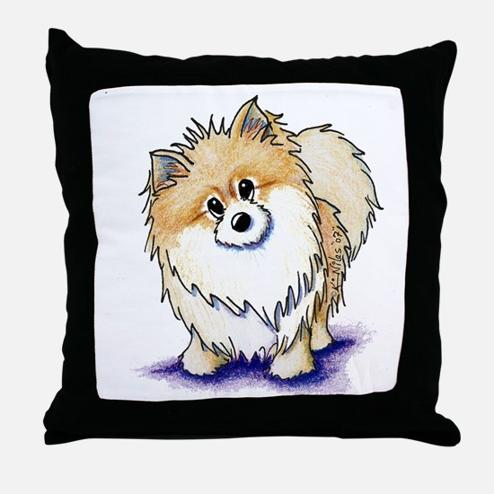 Curious Pom Throw Pillow