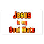 Jesus is my Soul Mate Rectangle Sticker
