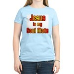 Jesus is my Soul Mate Women's Pink T-Shirt