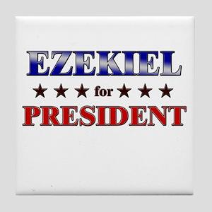 EZEKIEL for president Tile Coaster