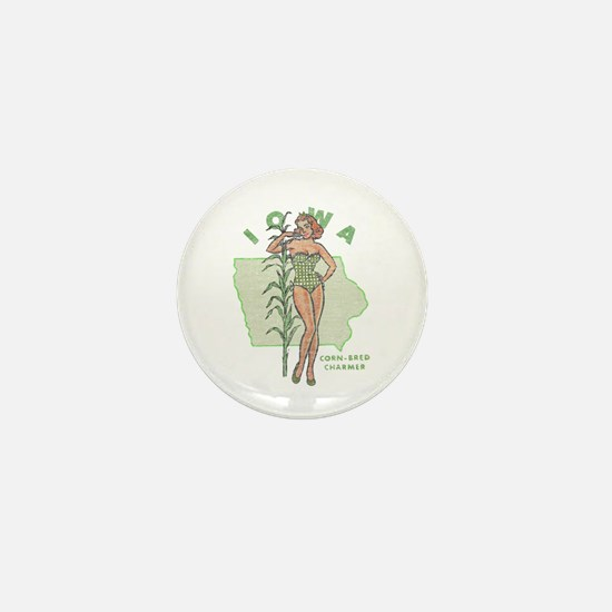 Faded Iowa Pinup Mini Button