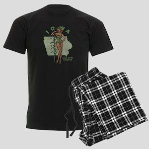 Faded Iowa Pinup Men's Dark Pajamas