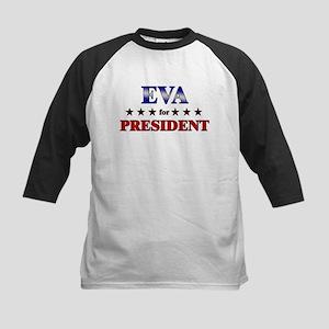 EVA for president Kids Baseball Jersey