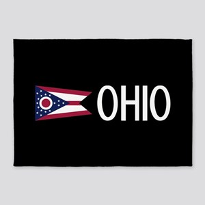 Ohio: Ohioan Flag & Ohio 5'x7'Area Rug